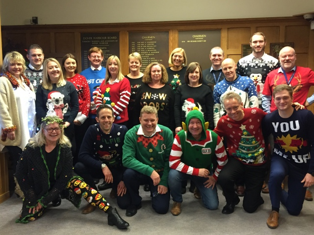 Staff at Port of Dover Supporting Save the Children Jumper Day.